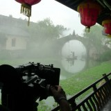 "On the set of ""The Red Envelope"" in Hengdian Studios, China"