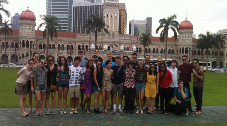 Dodge College students visit Singapore