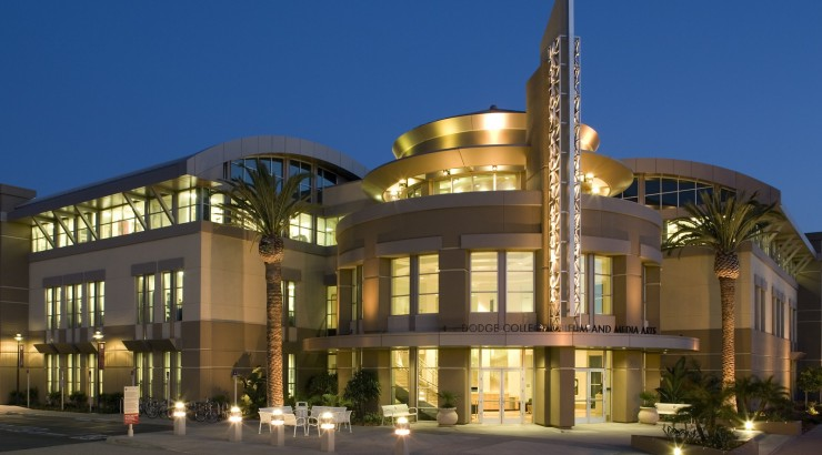 Dodge College of Film and Media Arts' Marion Knott Studios building.