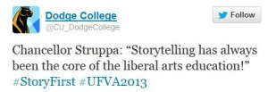 UFVA Conference 2013 Tweet Capture
