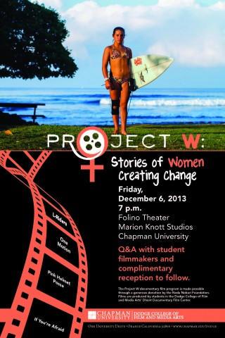 Project W Stories About Women Creating Change Poster 2013