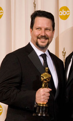 cademy Award winners for Achievement in Visual Effects John Knoll (left), Hal Hickel (left center), Charles Gibson (right enter), and John Knoll during the 79th Annual Academy Awards at the Kodak Theatre in Hollywood, CA, on Sunday, February 25, 2007.