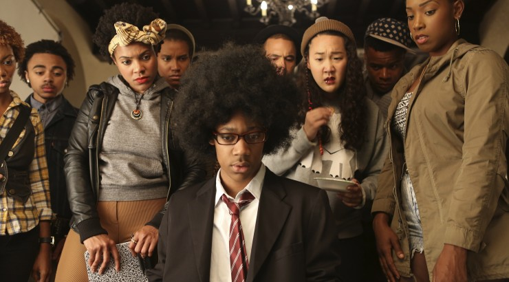 Screen still from the film DEAR WHITE PEOPLE