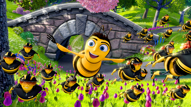 Still from the film THE BEE MOVIE