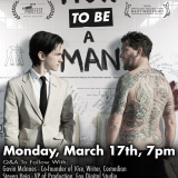 Image of HOW TO BE A MAN film poster for pre-release marketing materials