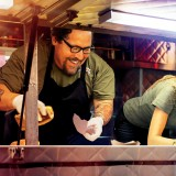 """Chef"" starring Jon Favreau, Robert Downey Jr., and Scarlett Johansson."