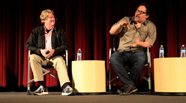Donald Petrie and Jon Favreau on the Folino Stage