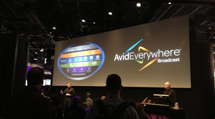 image of AvidEverywhere presentation screen at the NABShow 2014
