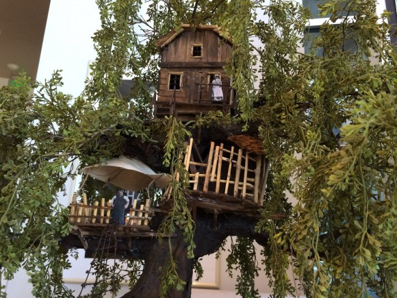 photo of a production design model of the Swiss Family Robinson Treehouse