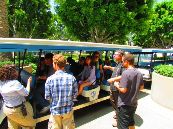 Image of Dodge College students touring Warner Bros. Backlot