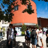 Image of students touring the Cineteca in Bologna, Italy.