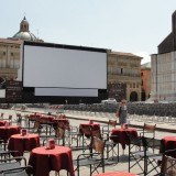 Image of the Piazza Maggiore in Bologna, Italy