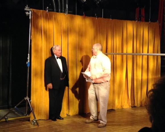 Image of professor Andy Erish directing Robert Wagner.