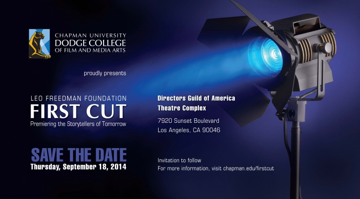 Image of the Leo Freedman Foundation First Cut 2014 Save the Date