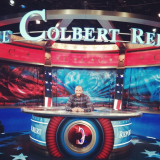 Image of Justin Simien on the set of THE COLBERT REPORT