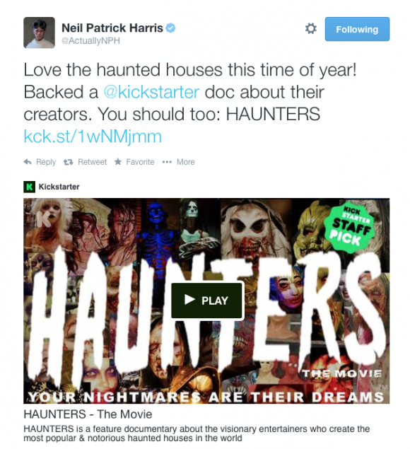 Image of HUNTERS a documentary that explores the world of haunted attractions