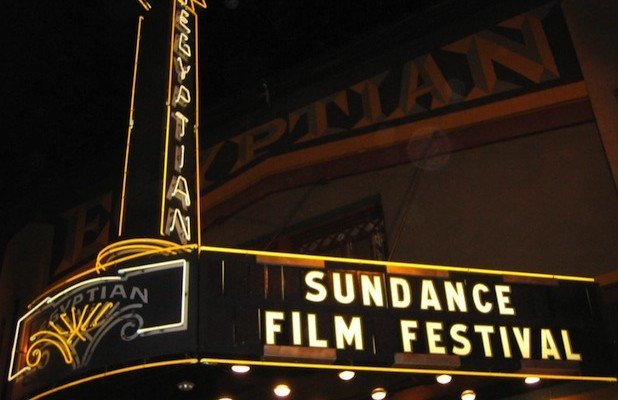 Egyptian Theater marquee at the 2014 Sundance Film Festival
