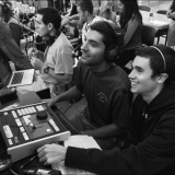 Chapman broadcast students report the news from the field
