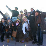 Dodge College students on the travel course Film Capitals of the World: New York.