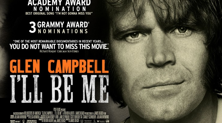 Official film poster for the Glen Campbell documentary I'LL BE ME.