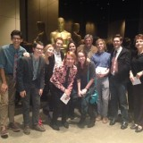Bill Kroyer and Dodge students at the Academy of Motion Pictures Arts and Sciences.
