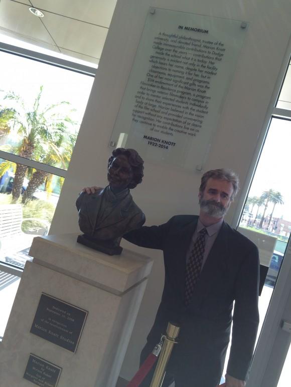 Cory O'Connor revealing the Marion Knott Memorial plaque