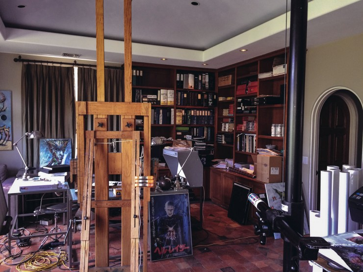 work space at clive barker's