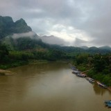 a wide shot of laos and Nong Khiaw