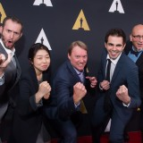 The Academy of Motion Picture Arts and Sciences presented its 42nd Annual Student Academy Awards® on Thursday, September 17, in Beverly Hills. Pictured (left to right): Chris Williams, ChiHyun Lee, Don Hall, Daniel Drummond and Roy Conli.
