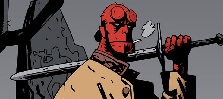 hellboy image with sword