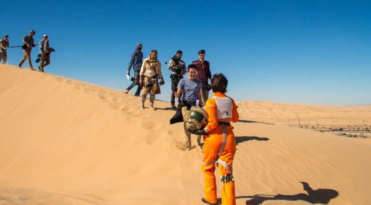 kara's crew out in the desert dunes