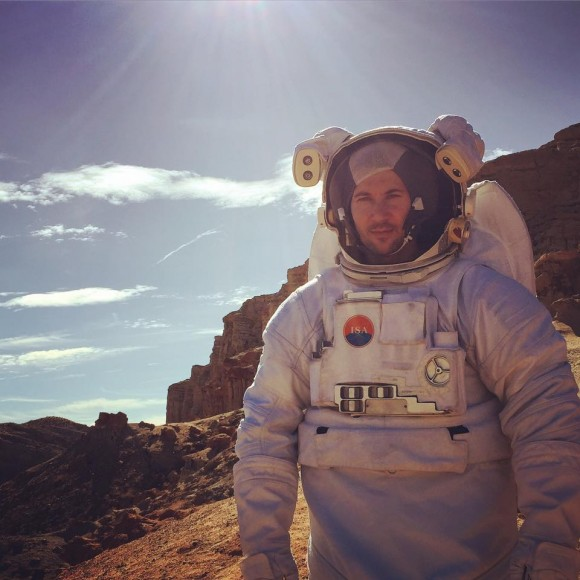astronaut filming on location in the redlands