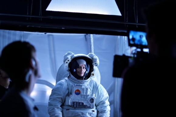 astronaut on set