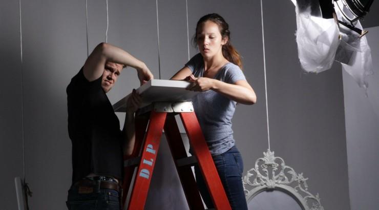 scheys on ladder designing a set