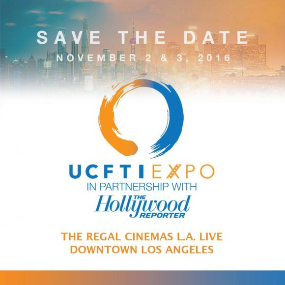 invitation card for ucfti expo with text that says save the date