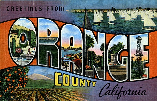 orange county post card