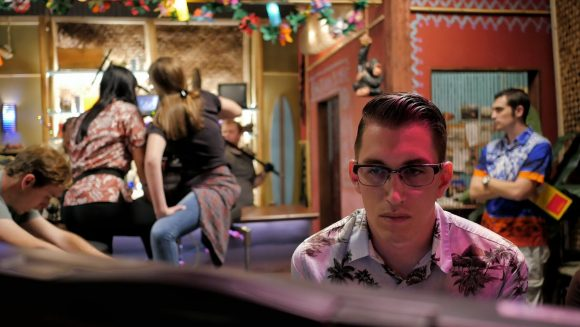 Director Tod Brewster watching a take PHOTO: ETHAN TALBY