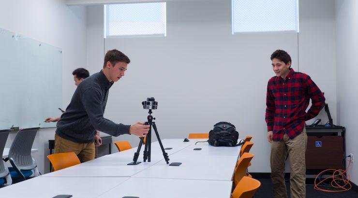 setting up a 360 camera
