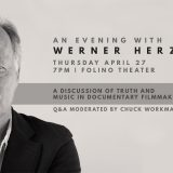 You're invited to An Evening with Werner Herzog – April 27