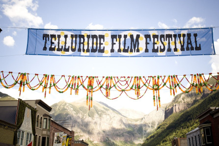 Telluride Film Festival banner in Telluride, CO