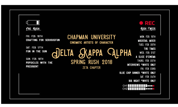 Delta Kappa Alpha rush week promo