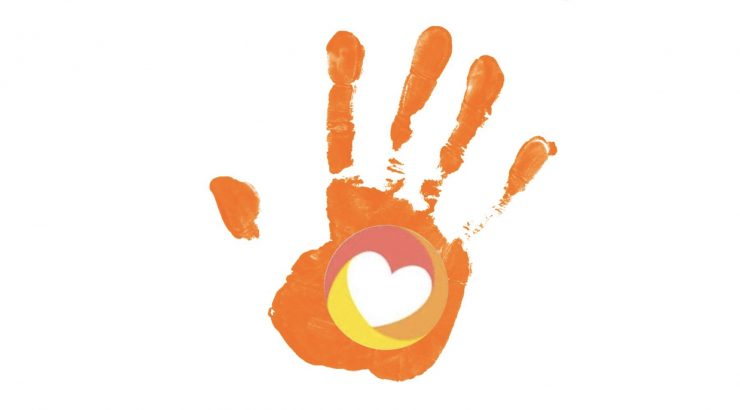With Purpose hand print logo