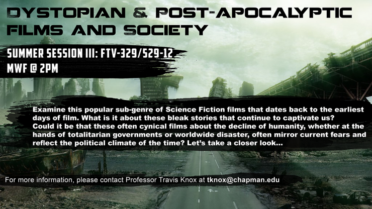 New Course Offering: Dystopian & Post-Apocalyptic Films and