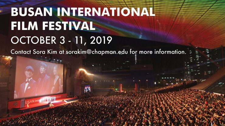 Attend the 2019 Busan International Film Festival - Dodge College of