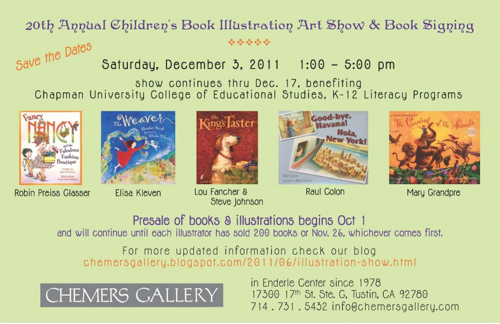 20th Annual Children's Book Illustration Art Show & Book Signing