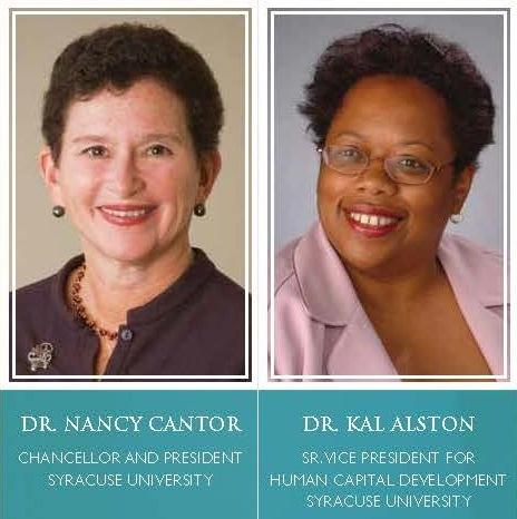 Dr. Nancy Cantor and Dr. Kal Alston