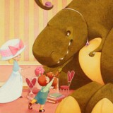 """Introductions 'Tea Rex'' by Moll Idle. Medium: Prismacolor"