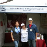 Libreria Martinez Staff at the 2014 LA Times Festival of Books: Maria Ceballos, Dr. Anaida Colon-Muniz, and Mac Morante (left to right)