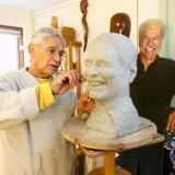 Nicholas Hernandez sculpting.