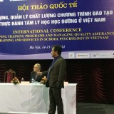 Part time faculty member Phuong Le presenting at the 4th International Conference on School Psychology in Hanoi, Vietnam